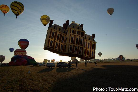 Décollage du ballon château - dimanche 2 août