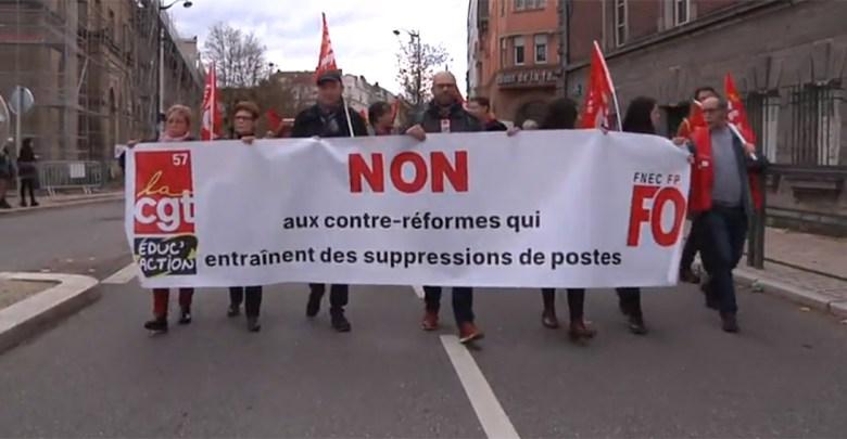 Photo of Manifestation dans l'éducation nationale : près de 300 personnes à Metz (vidéo)