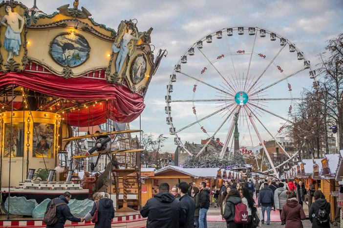 Отдых в Бельгии зимой: рождественская ярмарка в Брюсселе