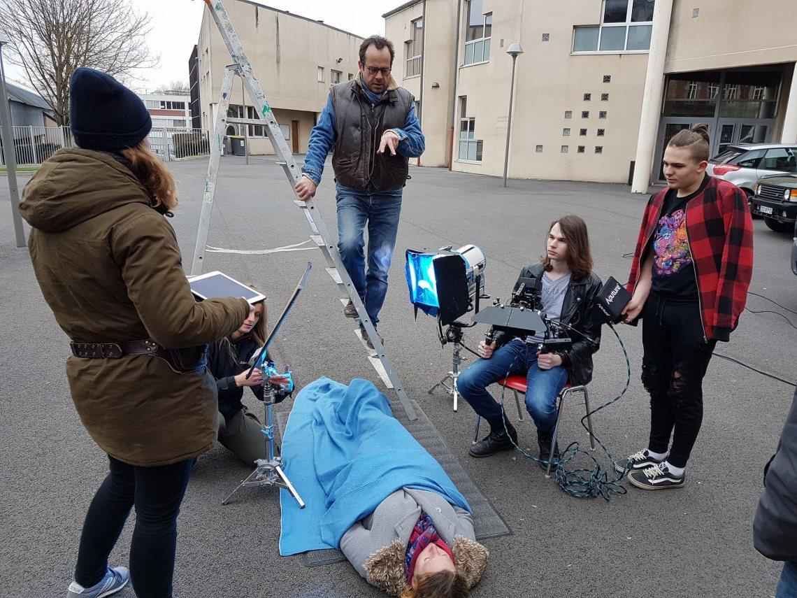 Jour 2 : tournage au lycée Louise Michel