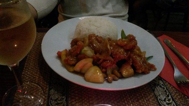 Yukulele cashewnut with chiken
