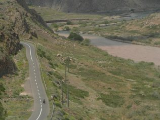 Le long de la riviere Arat, l'azerbaidjan en rive gauche