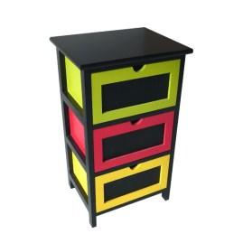 meuble-3-tiroirs-colores-et-ardoise
