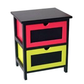 meuble-bois-2-tiroirs-couleurs-et-ardoise