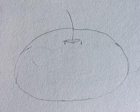dessiner la citrouille facilement