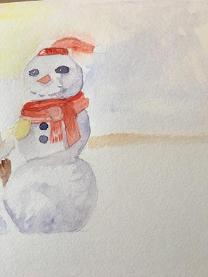 Peindre le bonhomme de neige