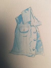 Les ombres bleu de la veste