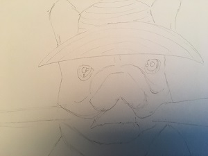 Je dessine les détails des yeux