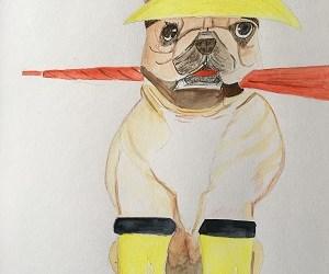Comment peindre facilement un chien à l'aquarelle .