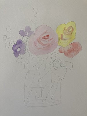 Comment peindre un bouquet de fleurs dans un vase rapidement