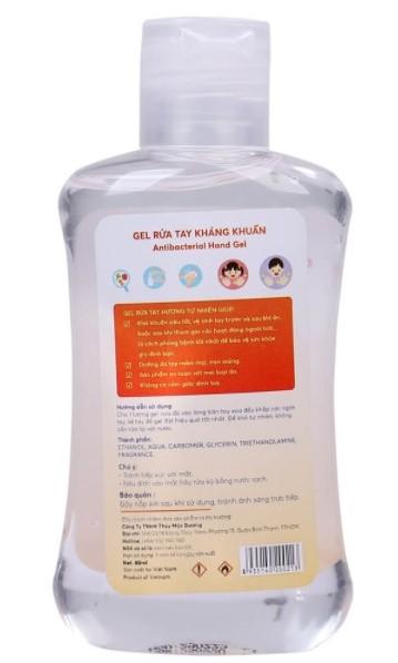 Combo 2 Gel rửa tay khô kháng khuẩn Titione 80ml trẻ em