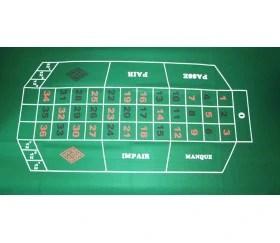 tapis de jeu pour roulette 180 x 90 cm pas cher feutrine