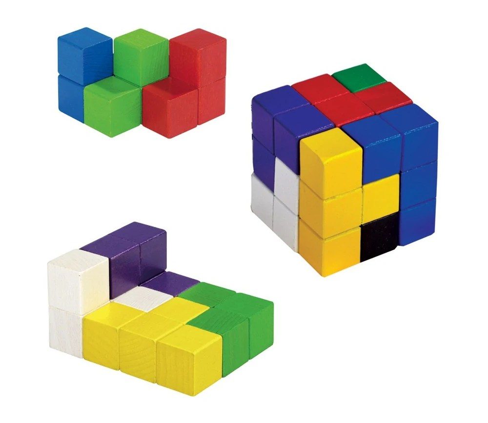 cube soma 7 cm compose de cubes 2 3 x 2 3 cm en bois