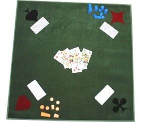 tapis cartes tisse 77 x 77 cm vert marque france cartes 4 as