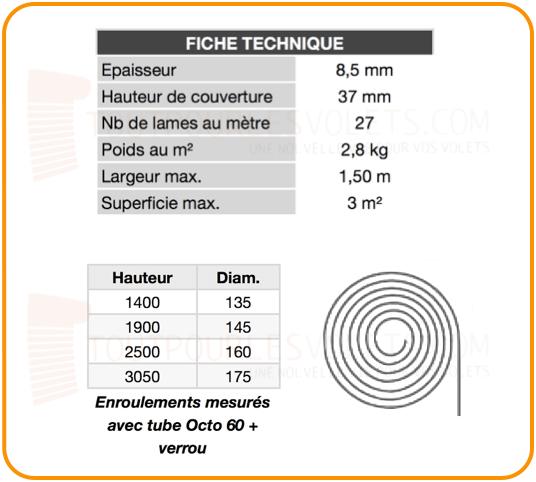 Tablier Pvc Sur Mesure En Lames De 37 Mm Pour Volet Roulant Coloris Blanc 01 Ral 9010
