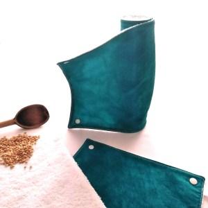 Art de la table - Essuie-tout lavables - Moiré Pétrole