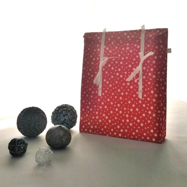 """Emballages - Pochette cadeau """"Etoiles-Rouge-blanc"""""""