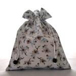 Sacs en tissu - Pochons - Hirondelles & Fleurs de Cerisiers