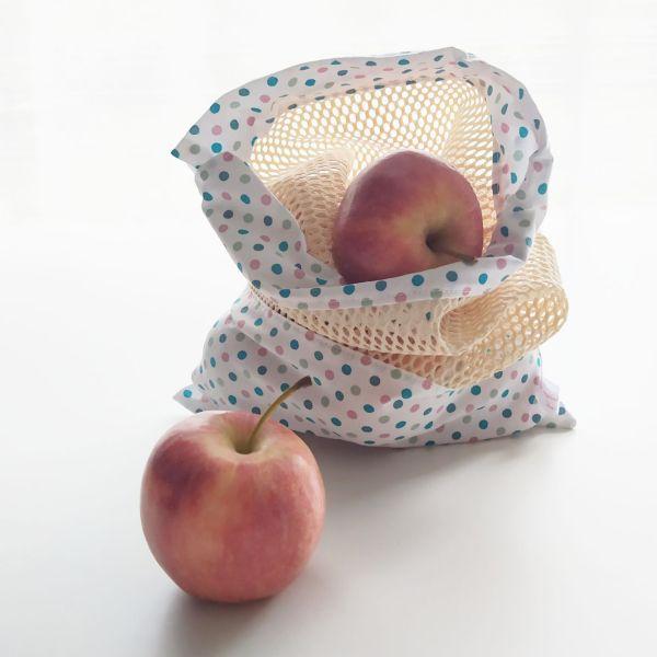 Emballages - Sacs à Vrac - Pois - Rose Vert