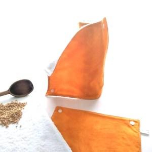 essuie-tout lavables ambre moiré