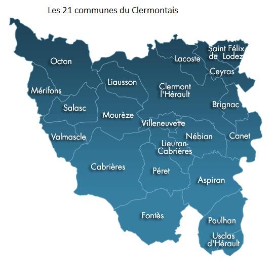 les-21-communes-du-clermontais