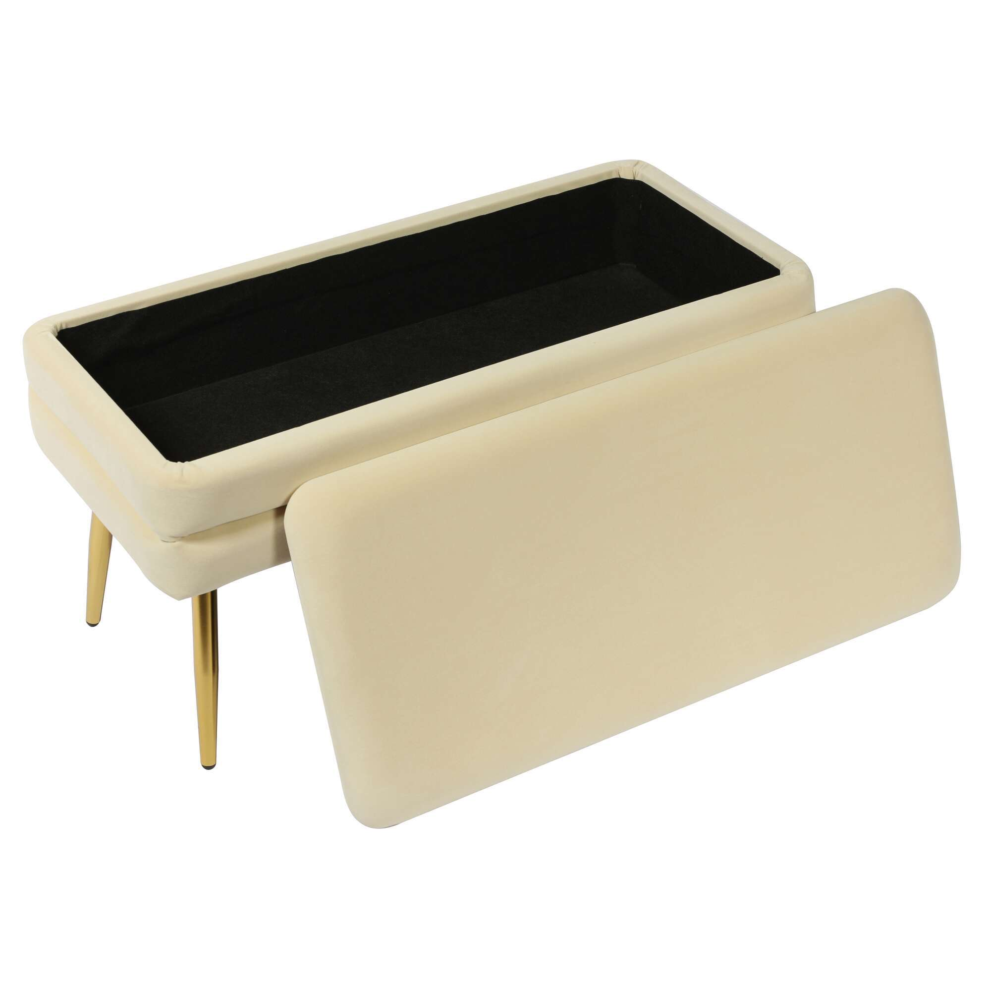 ziva cream storage bench tov furniture