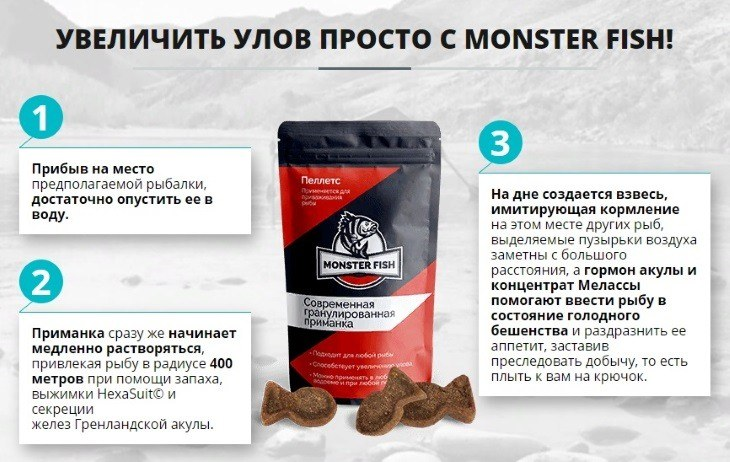 Инструкция по использованию Monster Fish