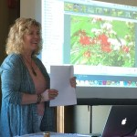 tova presenting at april garden club