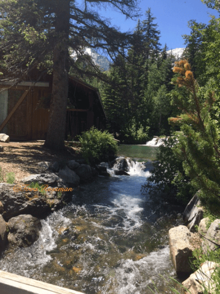 Waterfalls and streams created at Sundance