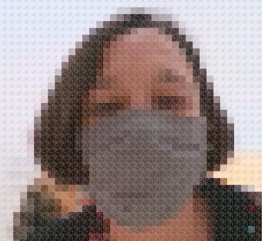 Selfie i LEGO fra LEGO House