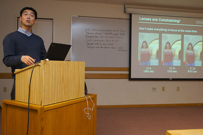 Dr. Ren Ng discusses how he refocuses after the fact at the December 2006 COBA meeting