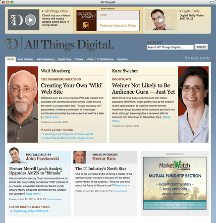 All Things Digital Web Site