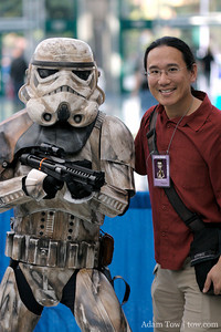 Adam at Celebration IV with a desert Stormtrooper
