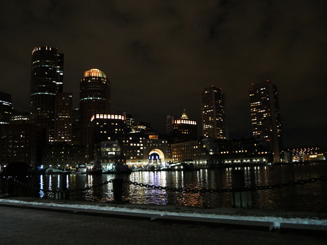 Boston Harbor is gorgeous at night.