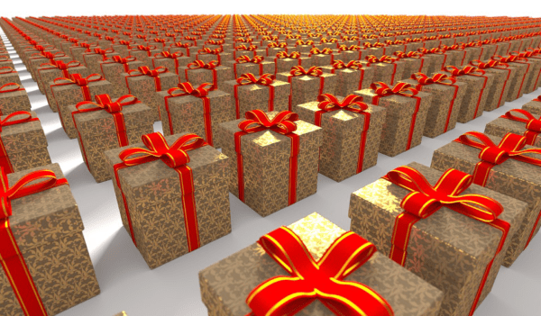 your returned gifts might not end up back on a shelf toward zero