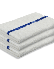 Pedicure Towels (16x27) - White with Blue Stripe
