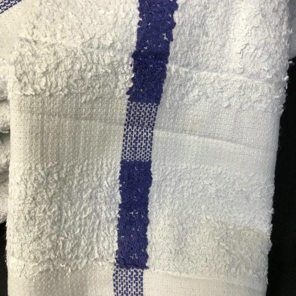 Kitchen 16x27 Hand Towel - White with Blue Stripe - priced per dozen