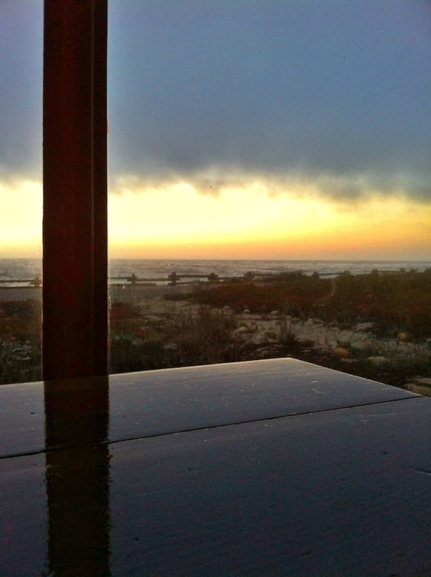 Dining Room Table Sunset