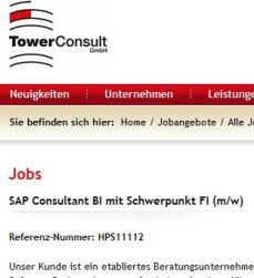 sap consultant - Stellenscrennshot