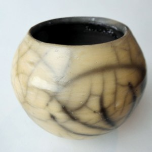 julie brownking raku yellow bowl
