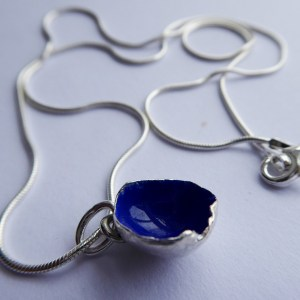 silverkupe necklace hollow blue