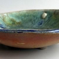 june roddam Glass drop bowl on 4 legs