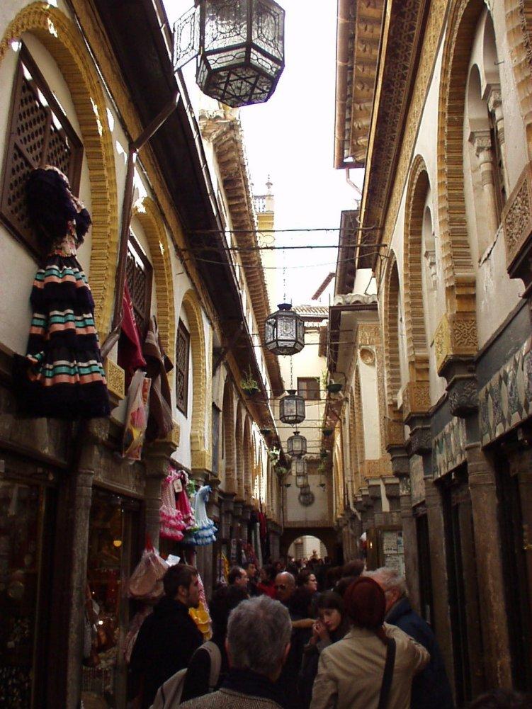 Medina-like streets in Granada