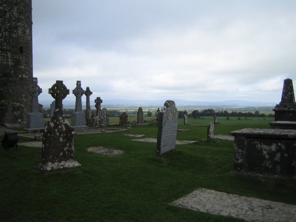 Typical Ireland: Gloomy skies and and ancient graveyards