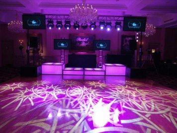 light shapes on dance floor