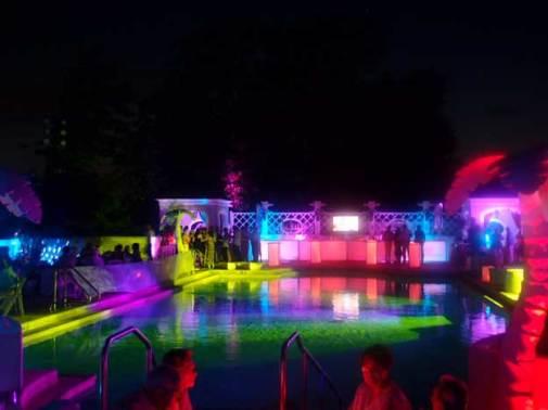 rainbow lighting event