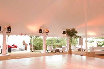 White Portable Dance Floor Rental