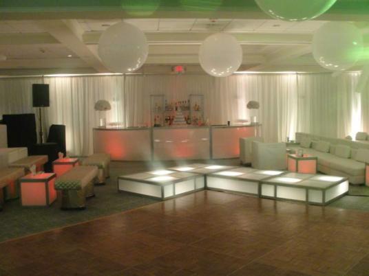 white LED stage decks