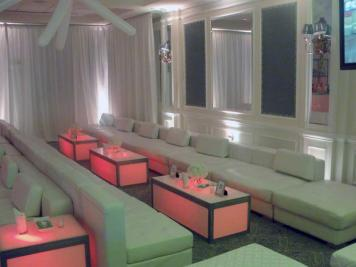 lounge decor and illuminated furniture