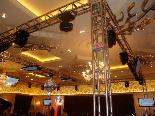 DiscoBall-and-Lighting-on-truss